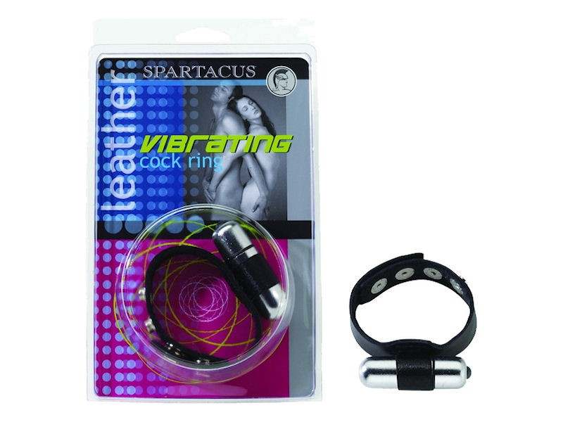 Vibrating Leather C Ring - Original - Couple on Package