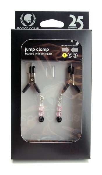 Pink Beaded Clamps - Jumper Cable