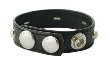 Studded Sewn Garment Leather C Ring