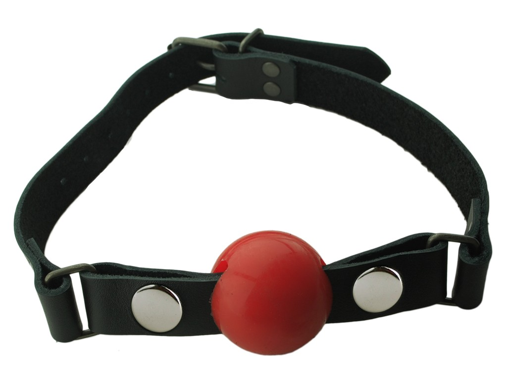 Nickel Free - Silicone Ball Gag - Small - Red