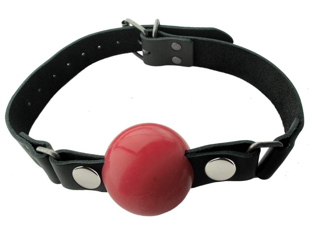 Nickel Free - Silicone Ball Gag - Large - Red