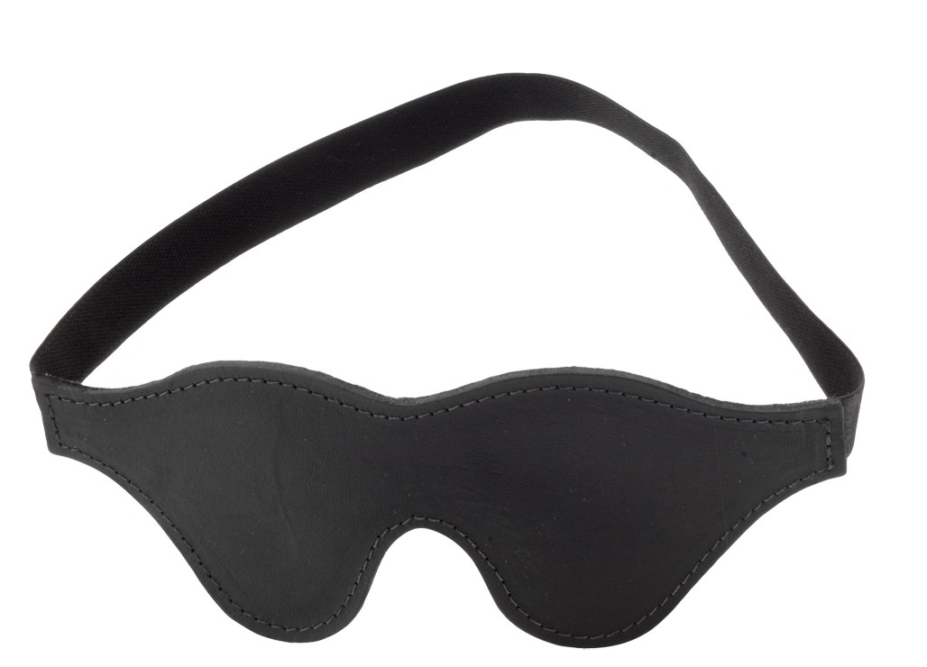 Black Fur Line Blindfold - Classic Cut