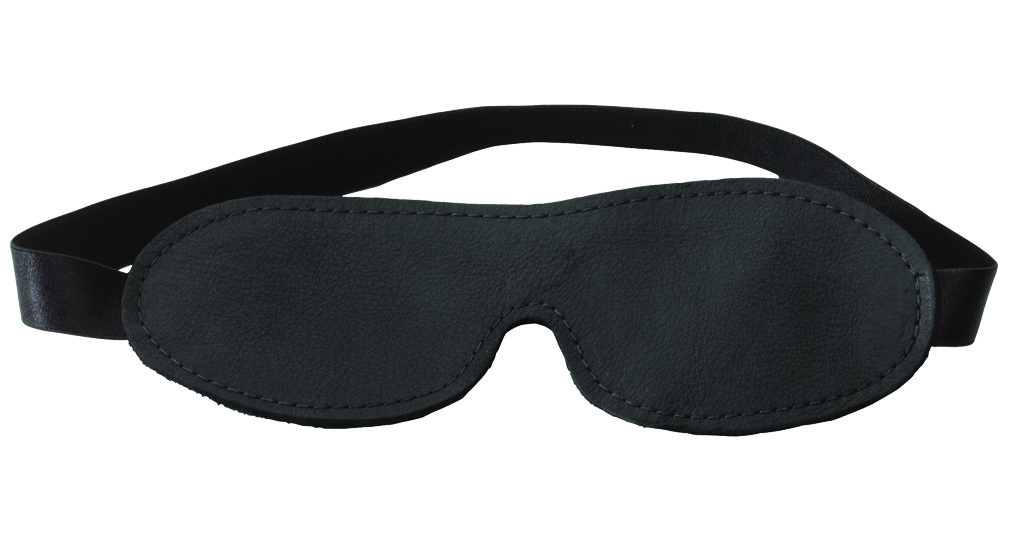 Black Fur Line Blindfold - Contour Cut