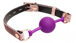 SILICONE PURPLE BALL GAG