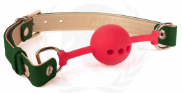 VEGAN GAG-GREEN/GOLD PU STRAPS