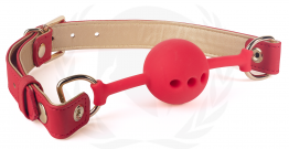 VEGAN GAG-RED/GOLD PU STRAPS